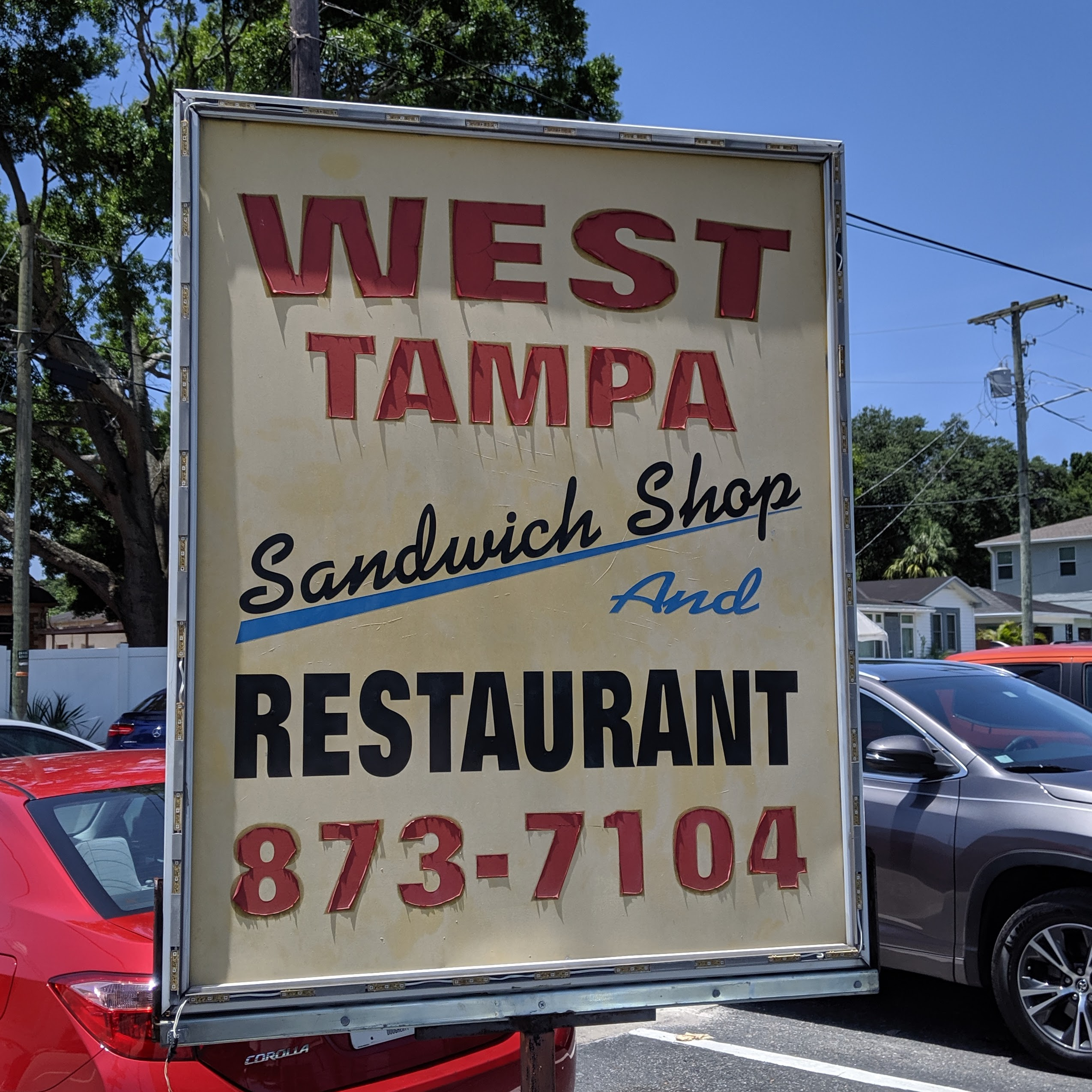 West Tampa Sandwich Shop and Restaurant sign