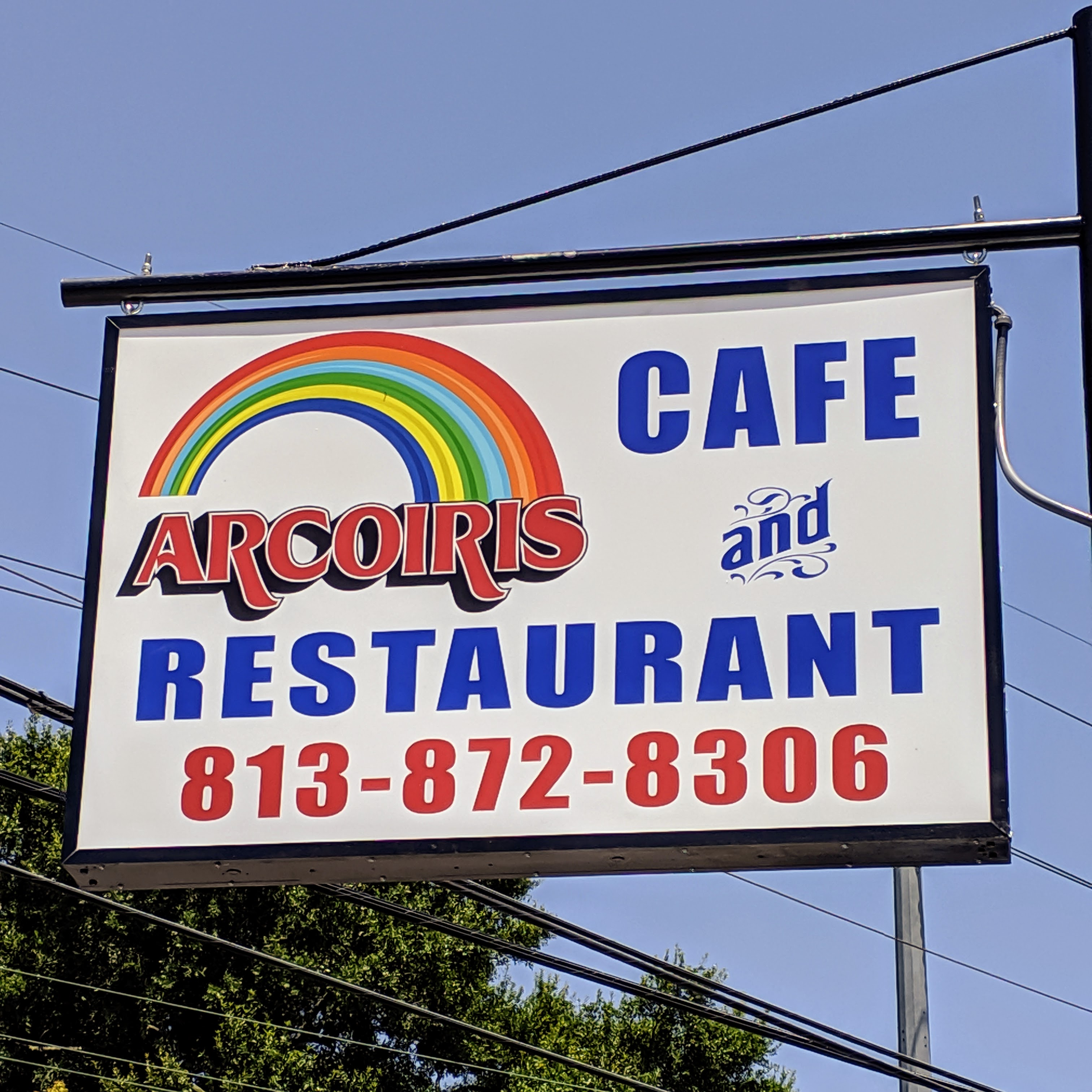 Arco Iris Cafe and Restaurant sign