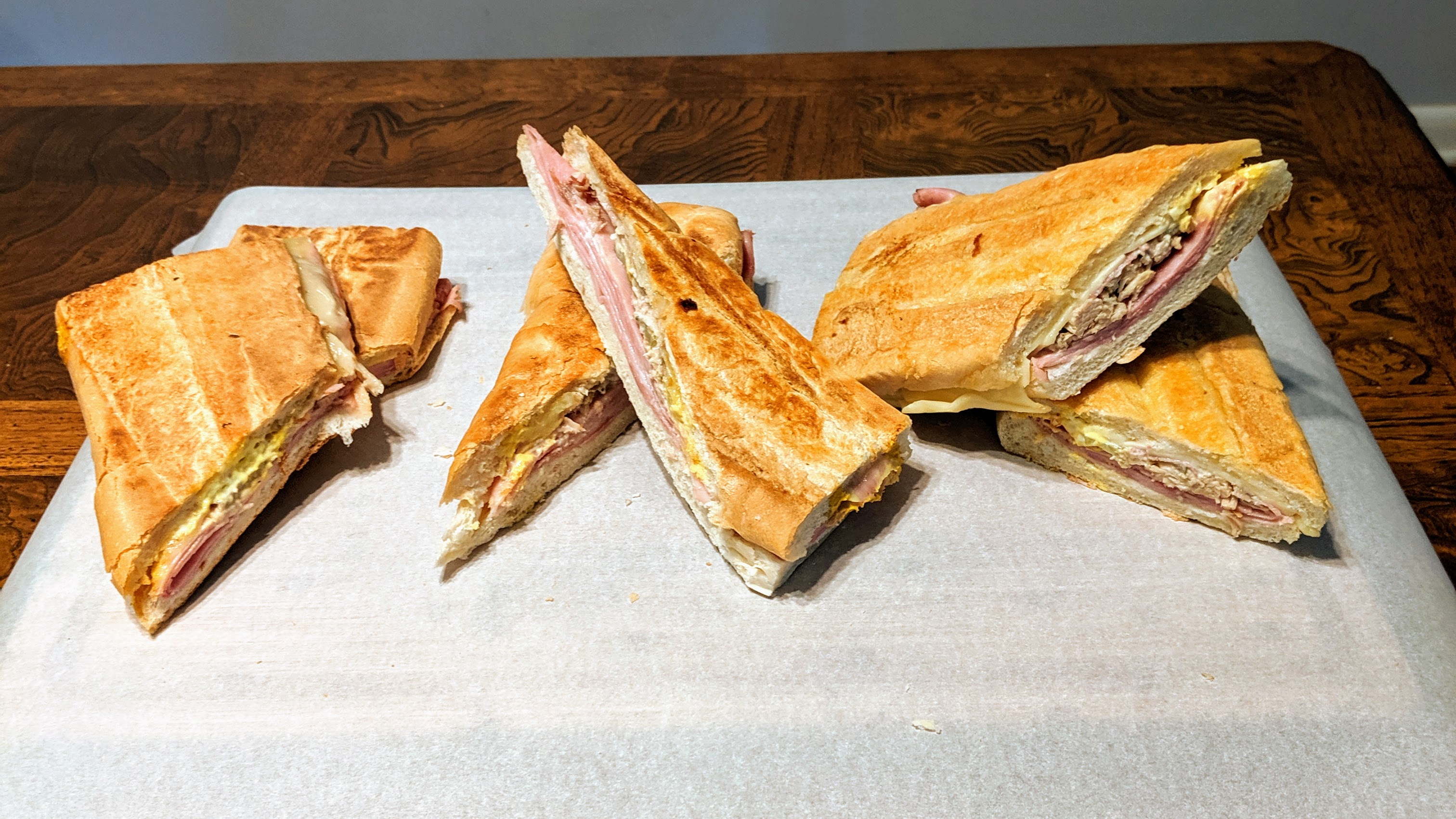 Cuban sandwiches from La Teresita, Arco Iris and West Tampa Sandwich Shop.